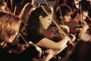 2000 --- Performing Orchestra --- Image by © Royalty-Free/Corbis